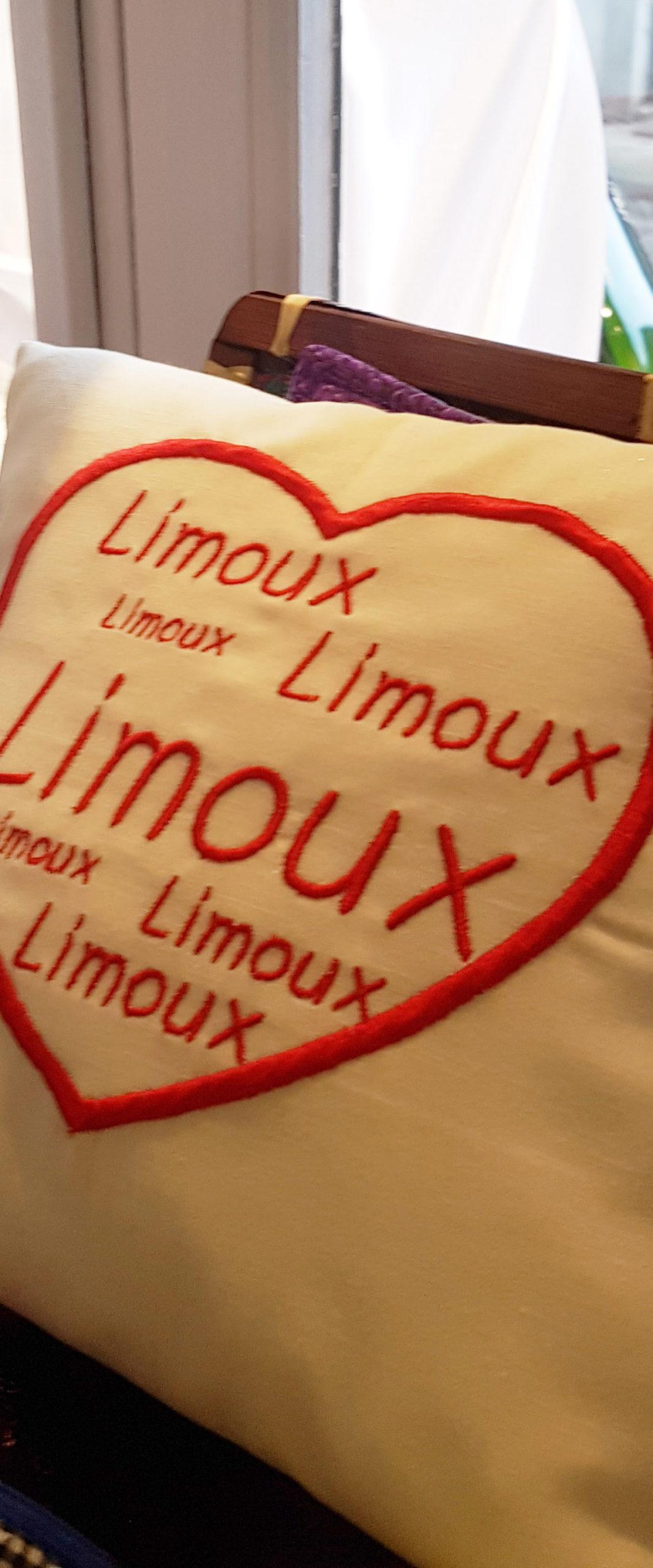 Coussin Souvenir - Limoux'in